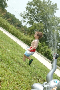 sprinkler run
