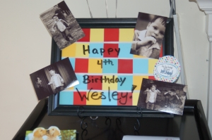 Happy 4th Birthday, Wesley!