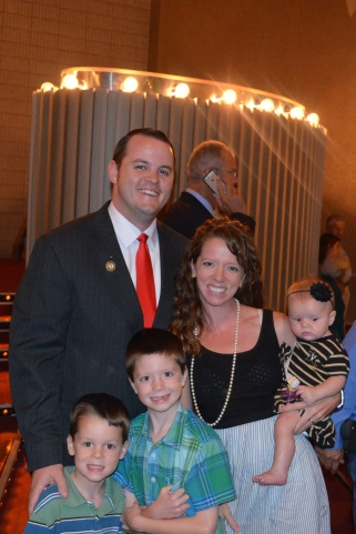 Our little family at Thomas's BIG day!